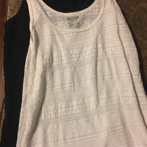 Two Woman's Mossimo Tank Tops White/Black XXL $8